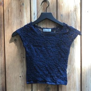 Abercrombie|Navy Blue Crop Top